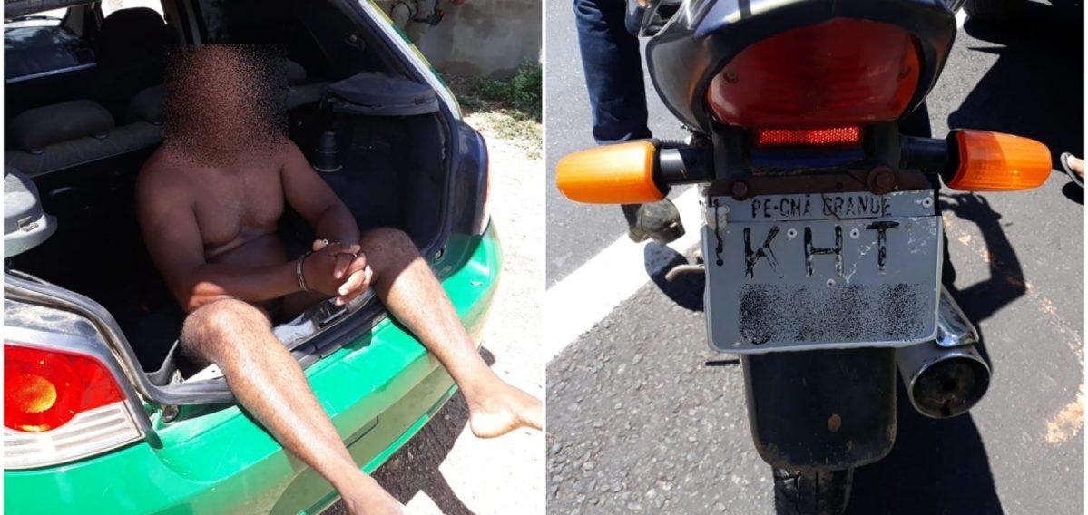 Polícia prende homem que conduzia motocicleta nu em 5 cidades do Piauí