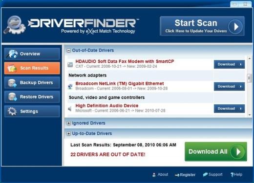 Driver Finder key