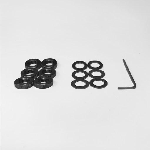 Black washer nut upgrade kit