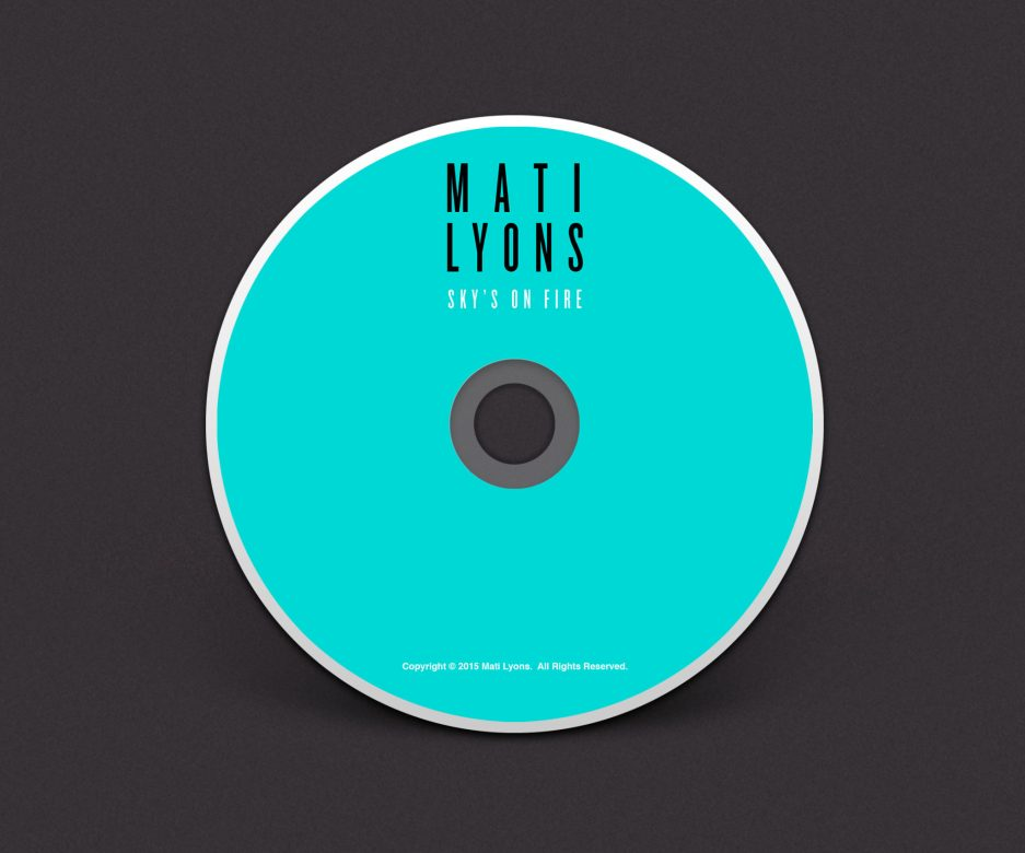Mati Lyons - Sky's On Fire CD Jacket Front