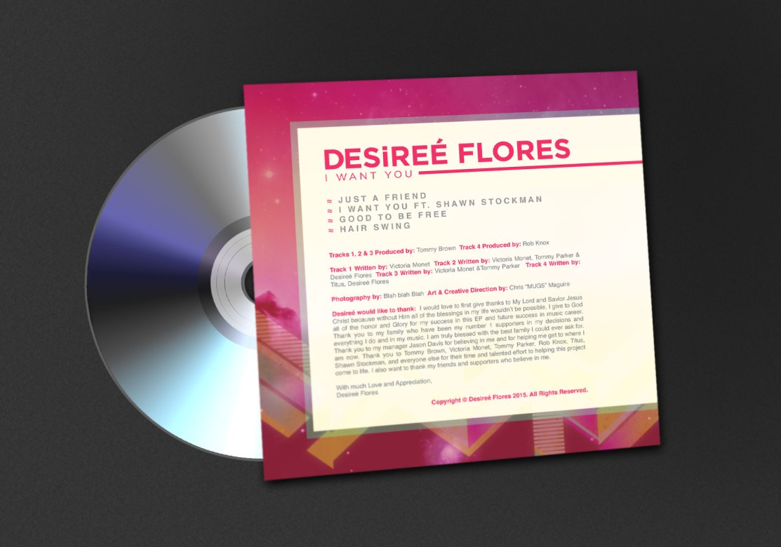 Desiree Flores | I Want You CD Jacket Back