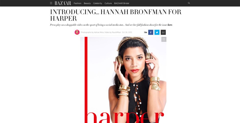 Harper's Bazaar | Introducing… Hannah Bronfman