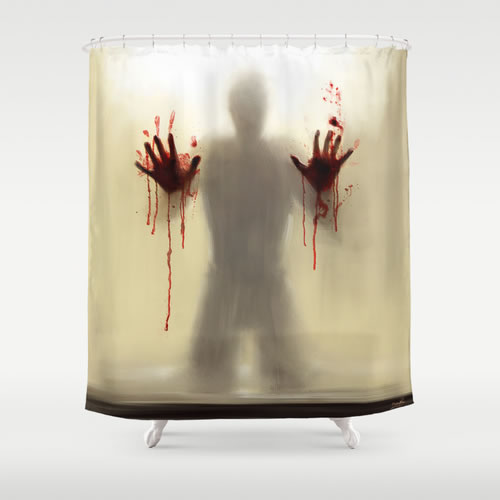 Charmant Society 6 Beware To The Shower You Are Not Alone Shower Curtain