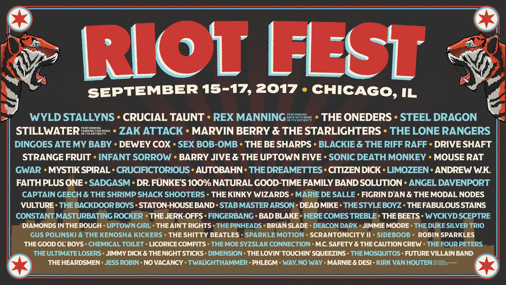 Resultado de imagen para riot fest rumors 2017
