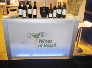 Brazilian Wine Display, photo courtesy of Ibravin