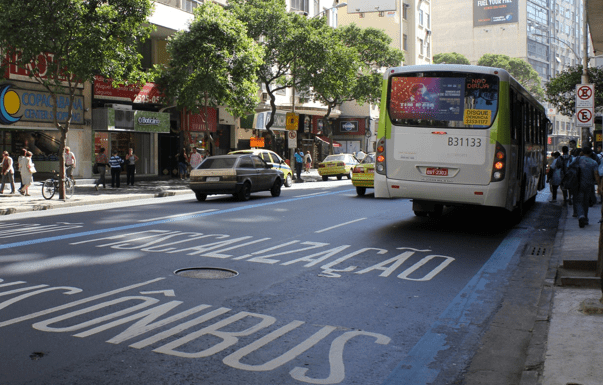 Bus corridor which has been operating in Copacabana, Rio de Janeiro, Brazil, News