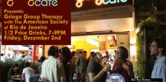 The Gringo Café will host this month's Gringo Group Therapy with AmSoc Rio Happy Hour, Rio de Janeio, Brazil News