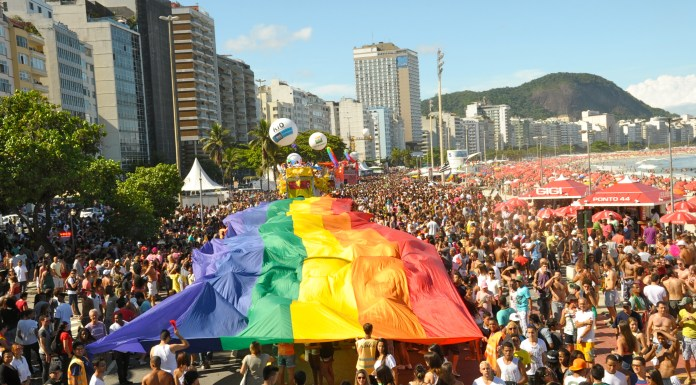 Rio Gay Pride 2012 paraded down the Copacabana beach front, photo by Governo do RJ/Andre Gomes de Melo.