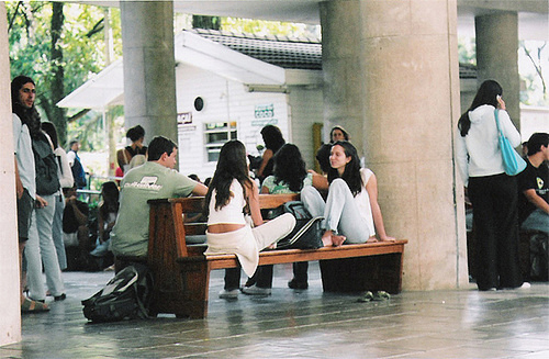 Students relaxing on the PUC campus