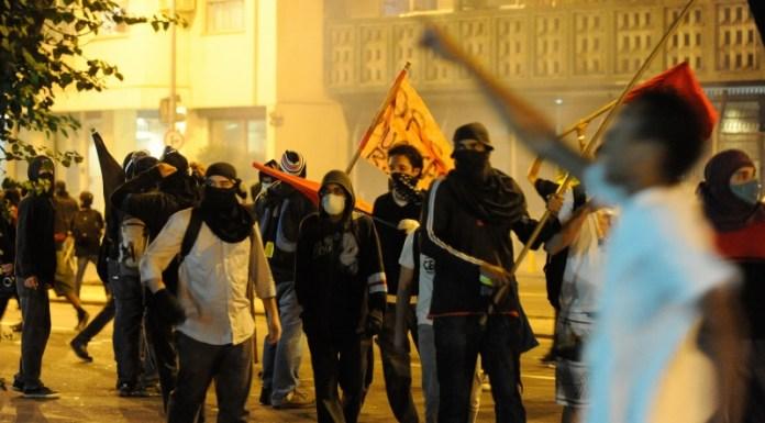 Brazil Black Bloc Arrested
