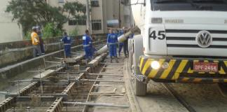 Construction workers rebuild the bonde line 6 days a week from 8am to 6pm