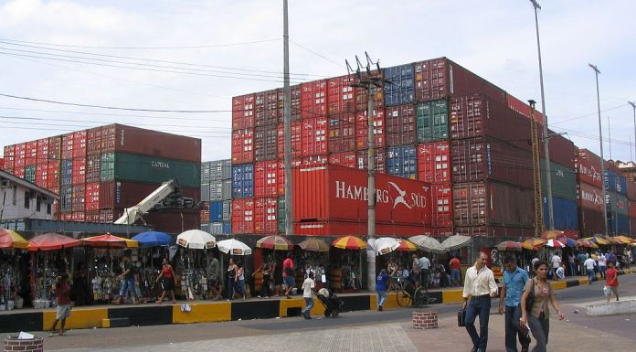 Port of Manaus, Brazil,Brazil's trade balance surplus for March was the lowest in three years,