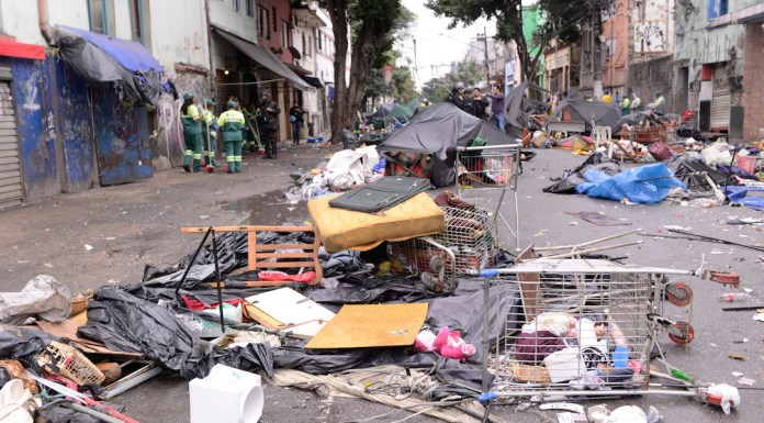 Brazil, São Paulo,São Paulo's Cracolandia region after police operations took away hundreds of homeless and drug-dependent people living in the area,