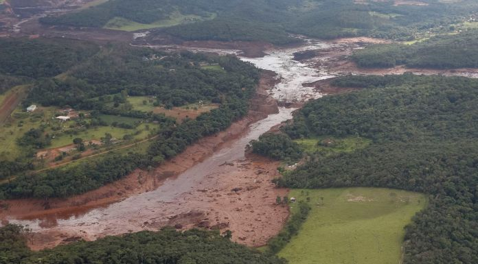 The Feijão mine in Brumadinho burst on January 25, 2019, burying houses and killing at least 134 people