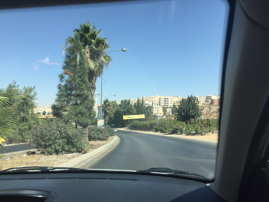 Driving to Jerash