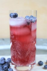 Blueberry basil kombucha