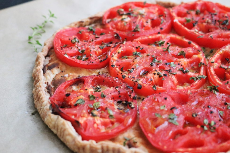 Provençal tomato mustard tart