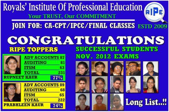 result Nov 2012