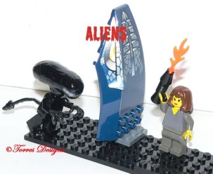 Lego Xeno vs Ripley