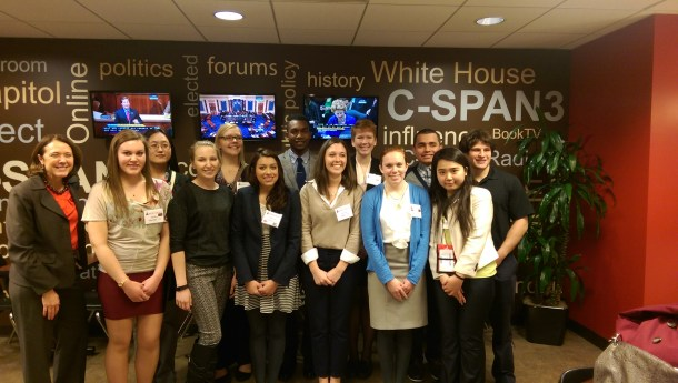 Students Visiting C-SPAN
