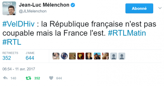 Image result for melenchon vel de hiv