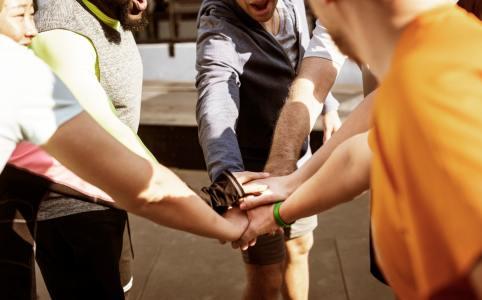 group exercise, teamwork