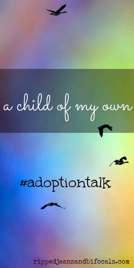 A child of my own|Ripped Jeans and Bifocals|adoption blogs|adoption ideas|international adoption|China adoption|adoption talk|