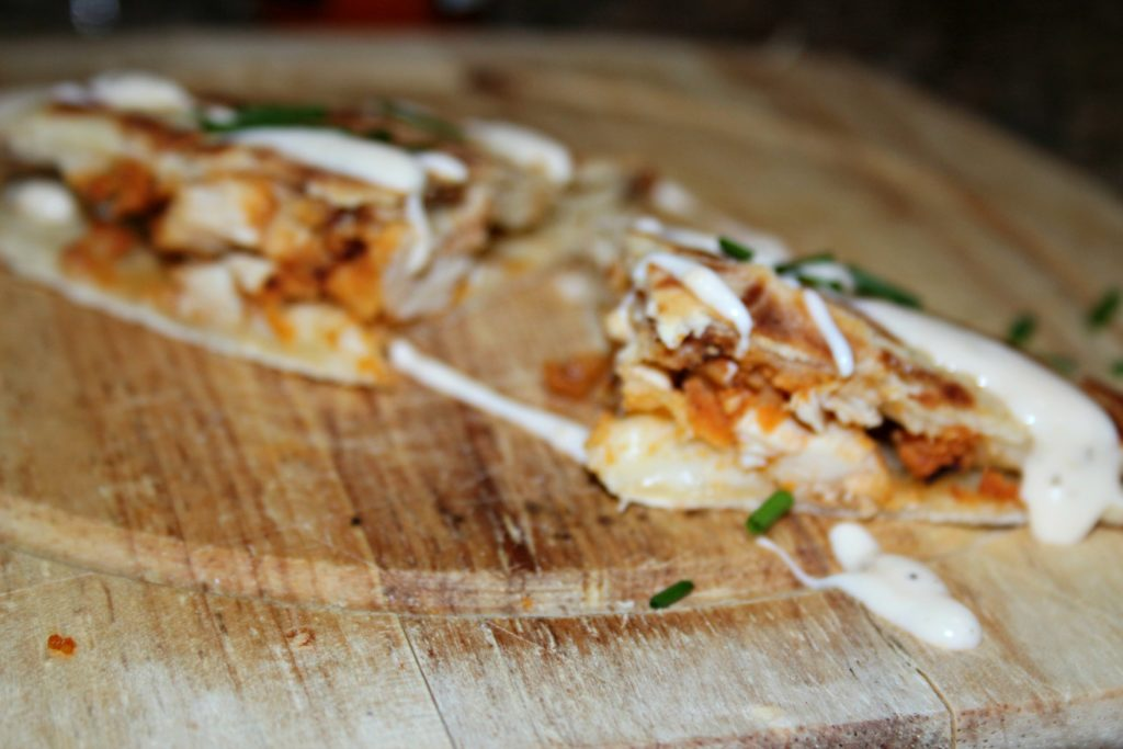 Buffalo Chicken Quesadillas|Ripped Jeans and Bifocals