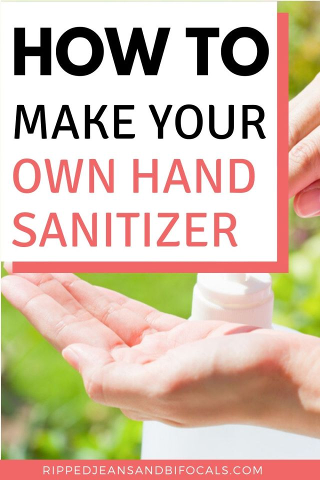 If you've ever wondered how to make your own DIY Hand Sanitizer, it's easy!
