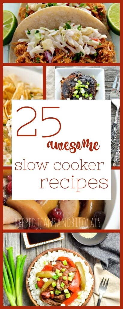 25 Slow Cooker recipes for the Sports Mom Ripped Jeans and Bifocals