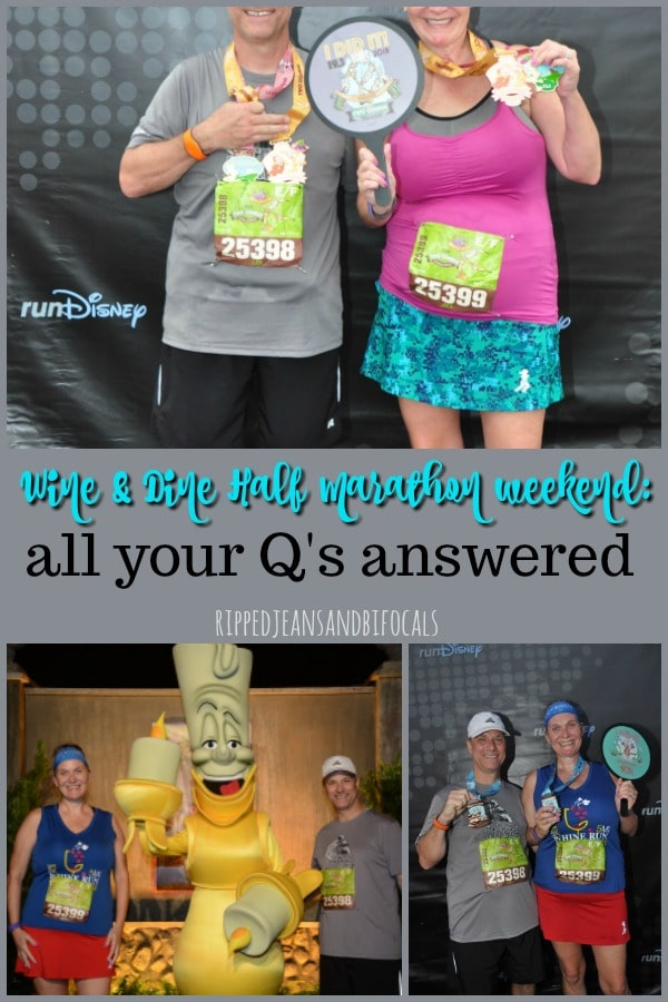 Disney Wine and Dine Half Marathon Weekend - Your Questions Answered|Run Disney Ripped Jeans and Bifocals