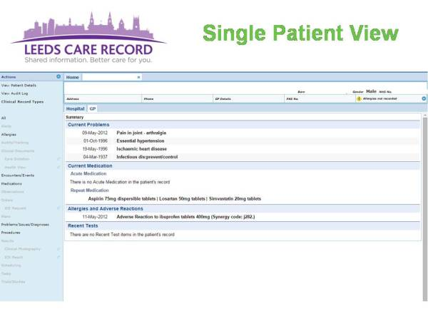 Integrated Care & Digital Records - A Maturity Model ...
