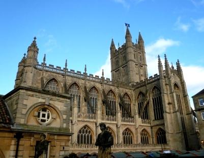The Bath Abbey from the RomanBath