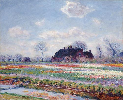 Monet Tulip Fields near Leiden, Netherlands