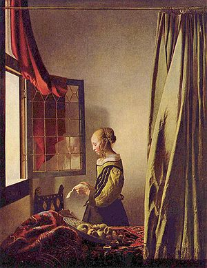 Vermeer Girl Reading A Letter By The Window