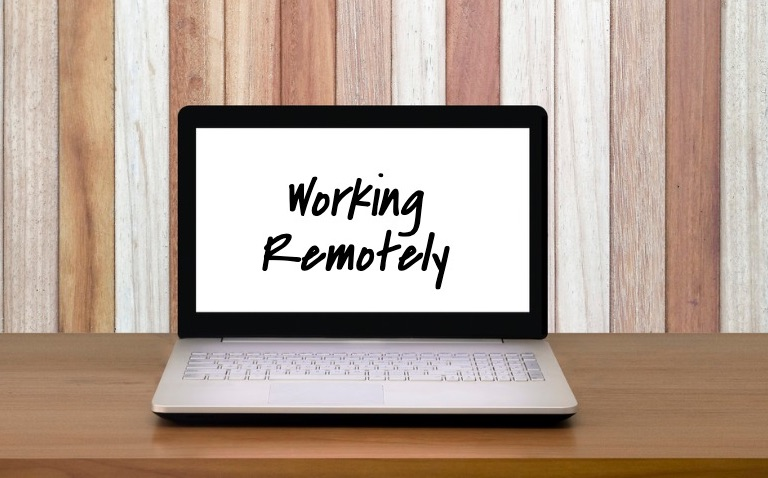 working remotely laptop