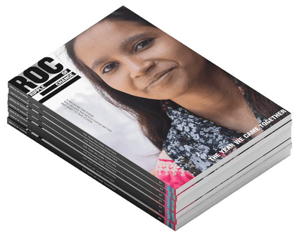 RIPPLE OF CHANGE Issue 01 – a stack of magazine