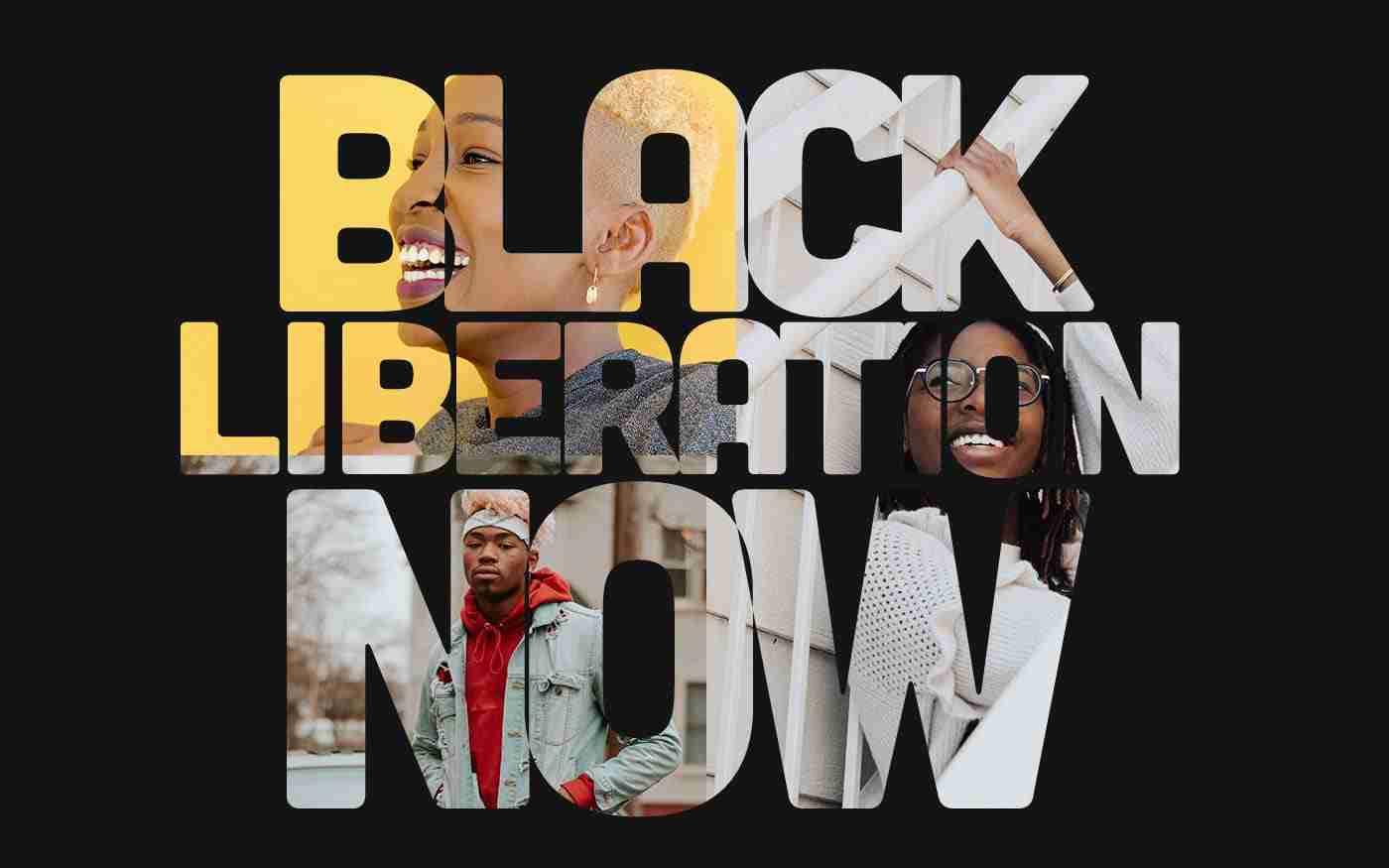 Black Liberation Now banner