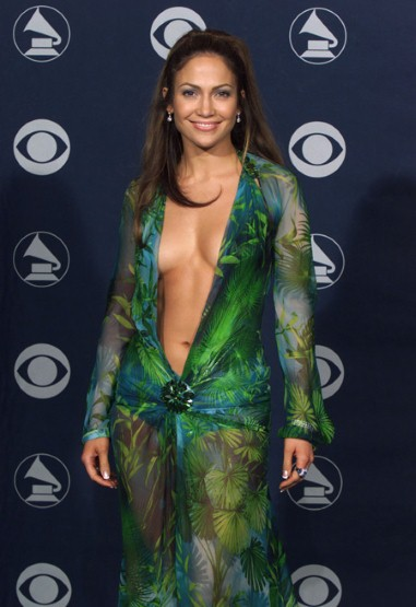 Jennifer Lopez at the 42 Annual Grammy Awards at the Staples Center in Los Angeles on Wednesday, 23 February, 2000
