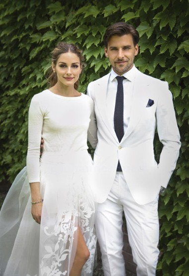 Olivia Palermo and Johannes Huebl on their wedding day