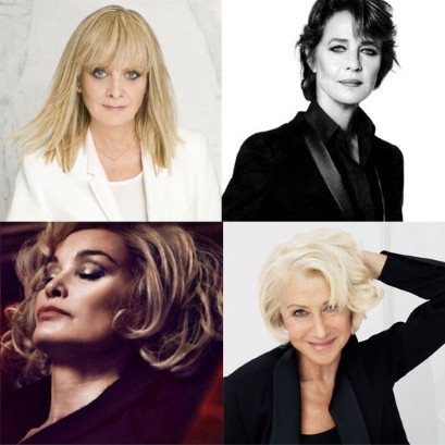 Age before beauty? Not any more: Twiggy for L'Oréal, Charlotte Rampling for NARS, Helen Mirren for L'Oréal and Jessica Lange for Marc Jacobs Beauty