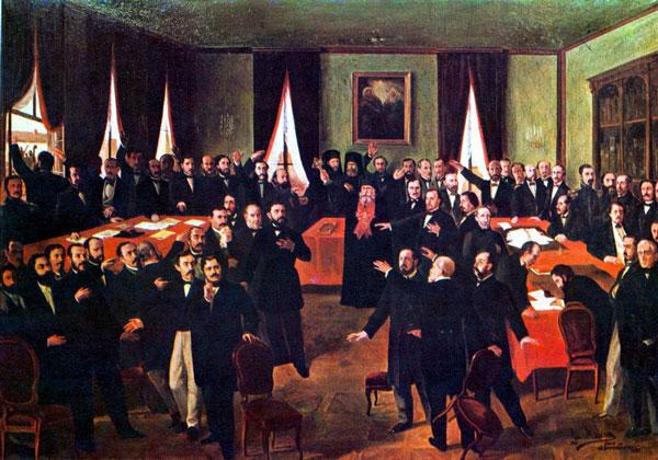 """7 octombrie 1857 – În cadrul Adunării ad-hoc a Moldovei, Mihail Kogălniceanu prezenta Proiectul de rezoluție care cuprindea """"dorințele fundamentale"""" ale românilor moldoveni, arătând că """"dorința cea mai mare"""" este Unirea Principatelor într-un singur stat"""