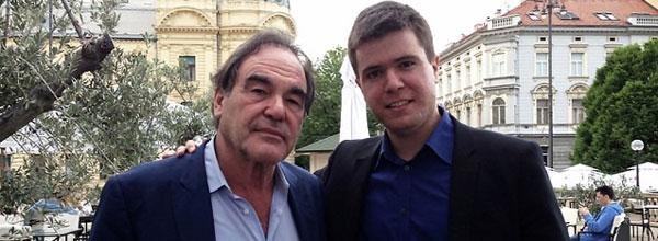 Regizorul american Oliver Stone şi Boris Malagurski