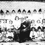 Clasa I primară din Nicolinț acum 77 de ani