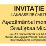 Invitație lansare de carte
