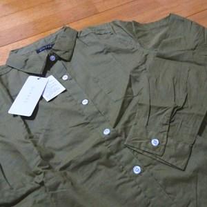 titivate ティティベイト インド綿コットンシャツ カーキ