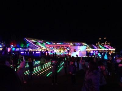 東京ドイツ村 イルミネーション 夜の写真
