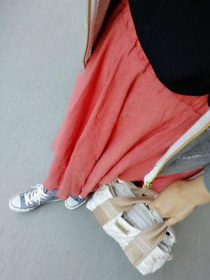 スカート 30代ママ 春夏 薄手 コットン 大人っぽい