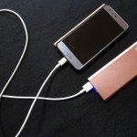 モバイルバッテリー 軽い 小型 大容量 2回