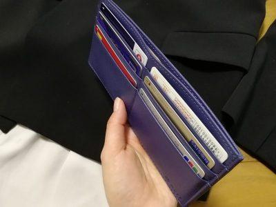 MURA カードがたくさん入る薄い財布